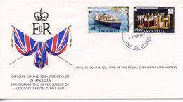 ANGUILLA  - HONOURING SILVER JUBILEE OF QE11 1977  FDC152 - Anguilla (1968-...)