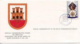 GIBRALTAR  - HONOURING SILVER JUBILEE OF QE11 1977  FDC156 - Gibraltar