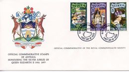 ANTIGUA  - HONOURING SILVER JUBILEE OF QE11 1977  FDC157 - Antigua And Barbuda (1981-...)