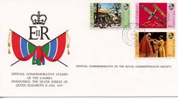 GAMBIA  - HONOURING SILVER JUBILEE OF QE11 1977  FDC158 - Gambia (1965-...)