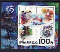 HUNGARY 1999 Pentathlon Championships Block With Specimen / Muster Cancellation MNH / **.  Michel Block 249 - Blocks & Sheetlets
