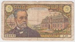 FRANCE 5 Francs Pasteur 4/11/1966 61/4 E.41 VG - 1962-1997 ''Francs''