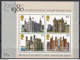 GB 1978, 760/63 Block 1, Historische Bauten. MNH ** - Blocks & Miniature Sheets