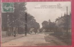 70 - ST LOUP SUR SEMOUSE (SAINT LOUP SUR SEMOUSSE)---Avenue De La Gare Et Route De Luxeuil--attelage--animé-Pas Courante - France