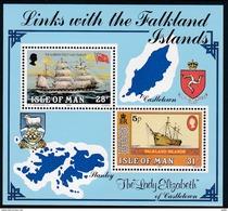 Man, 1984, 253+55 Block 7, Falklandinseln.  MNH ** - Isola Di Man