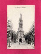 78 YVELINES, CROISSY, L'Eglise, Animée, (L'Abeille) - Croissy-sur-Seine