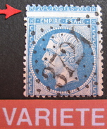 LOT R1494/30 - NAPOLEON III N°22 - GC 3724 ST LOUBES (Gironde) INDICE 6 - SUPERBE PIQUAGE DECALE - 1862 Napoleon III