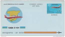 España Aerograma Nº 206 - Enteros Postales