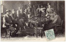 """Carte Postée à BILLY MONTIGNY - 62 - Mines Et Mineurs """" Gueules Noires """" Après La Remonte De La Mine - Béthune ? Lens ? - France"""