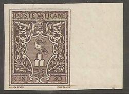 Vatican Vaticana Vaticane Vaticano 1945 30c Imperforated MNH - Errors & Oddities