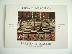 MAROSTICA   VICENZA  ITALIA   PARTITA  A  SCACCHI  1973   GIOCHI     SCACCHI - Scacchi
