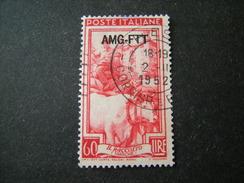 TRIESTE - AMGFTT. 1950/53, ITALIA AL LAVORO, L. 60 Rosso, Usato Perfetto - Gebraucht