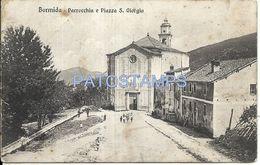 77988 ITALY BORMIDA SAVONA CHURCH & PALACE S. GIORGIO SPOTTED POSTAL POSTCARD - Italie