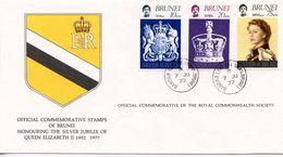 BRUNEI  - HONOURING SILVER JUBILEE OF QE11 1977  FDC164 - Brunei (1984-...)