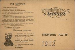 CARTE Timbres-Loisirs - Tourisme Et Travail - Old Paper