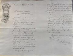 Lettre D'Accusé Réception De I. LAUTIER Joaillerie Orfèvrerie à Mr AURIOL Montpellier - Datée 25.01.1890 Et Signée - France
