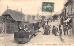 14 - CALVADOS / Cabourg -14756 - Station Des Tramways - Route De Caen - Beau Cliché Animé - Léger Défaut - Cabourg