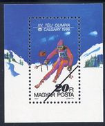 HUNGARY 1987 Winter Olympics Block  With Specimen / Muster Cancellation MNH / **.  Michel Block 193 - Blocks & Sheetlets