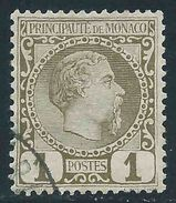 Monaco -1885 -  Charles III - N°1 - Oblitéré - Used - Monaco