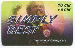 1661 - SIMPLY BEST 10+8 CHF Prepaid Telefonkarte - Suisse
