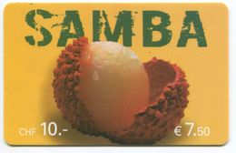1663 - SAMBA 10 CHF Prepaid Telefonkarte - Schweiz