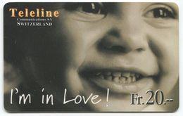 1665 - Teleline Fr. 20.-  I'm In Love ! - Schweiz