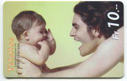 1666 - Teleline Fr. 10.- Papa Mit Baby - Schweiz