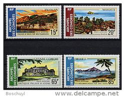 Comores, Comoros, 1971, Landscapes, Scenery, MNH, Michel 119-122 - Comoro Islands (1950-1975)