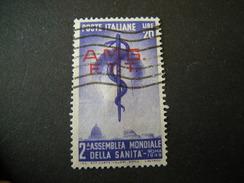 TRIESTE - AMGFTT. 1949, SANITA', L. 20 Violetto, Usato, TTB - Gebraucht