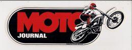 Autocollant  -  Sticker -     MOTO  JOURNAL - - Pegatinas