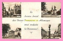 CPSM LE SERVICE SOCIAL DES FORCES FRANCAISES EN ALLEMAGNE VOUS SOUHAITE LA BIENVENUE - Kehl