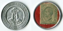 N93-0414 - Timbre-monnaie Trinchieri 5 Centesimi - Kapselgeld - Encased Stamp - Monetary/Of Necessity