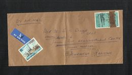 Ghana Air Mail Postal Used Cover Ghana To Pakistan  Harbour Airplane Ship - Ghana (1957-...)