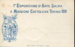 25287 Italia,stationery Card 10c.private Issue,for The Esposizione D'arte Sacra E Missioni Cattoliche Torino 1898 (2 Sca - 1878-00 Umberto I