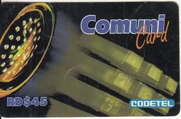 DOMINICANA  - CODETEL Prepaid Card RD$45(thin), Used - Dominicana