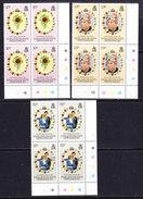 Falkland Islands Dependencies 1981 Royal Wedding 3v Bl Of 4 (corner) ** Mnh (36780) - Zuid-Georgia