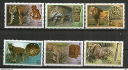 Série Des Félins, 6 Timbres Neufs **, Année 2015, De Cuba - Big Cats (cats Of Prey)