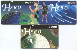 1671 - HERO 10 Bis 30 CHF Prepaid Telefonkarten Serie - Schweiz
