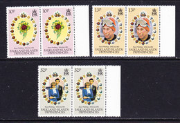 Falkland Islands Dependencies 1981 Royal Wedding 3v (pair) ** Mnh (36780A) - Zuid-Georgia