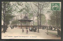 """TRES BELLE OBLITERATION DU """"JOUR DE L'AN """" 31 Sur SEMEUSE 5c Vert - CARTE POSTALE DE PARIS , écrite 31 Décembre 1910 - Postmark Collection (Covers)"""