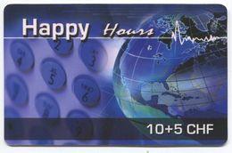 1672 - Happy Hours 10+5 CHF Prepaid Telefonkarte - Suisse