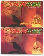 1673 - SUNTEL 10 Und 10+3 CHF Prepaid Telefonkarten - Suisse