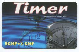 1677 - Timer 5+3 CHF Prepaid Telefonkarte - Schweiz