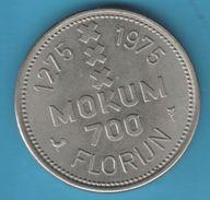 Token Netherlands 1 Florijn Amsterdam 700 Years 1275 1975 INSIGNIA AMSTELREDAMI - Netherland