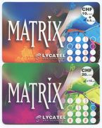 1682 - MATRIX 10 Und 20 CHF Prepaid Telefonkarten - Suisse