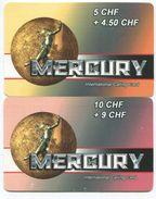 1683 - MERCURY 5 Und 10 CHF Prepaid Telefonkarten - Schweiz