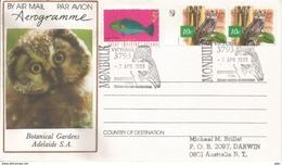 La Ninoxe Puissante, Aérogramme Oblitération Ninoxe D'Australie, Postée Au Victoria (Australia) - Búhos, Lechuza
