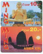 1684 - MING 10 Und 20 CHF Prepaid Telefonkarten - Schweiz