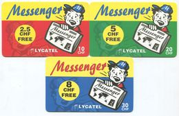 1685 - Messenger 5 Bis 30 CHF Prepaid Telefonkarten Serie - Schweiz