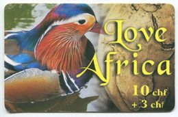 1686 - Love Africa 10+3 CHF Prepaid Telefonkarte - Schweiz